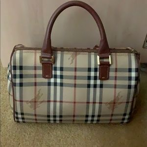 Vintage Haymarket Check Speedy PVC Bag Burberry